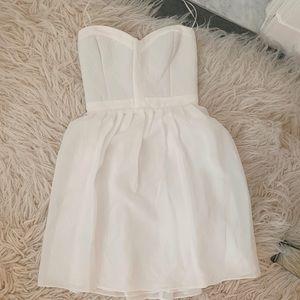 parker white corset-like dress